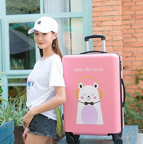 Tjtz Universal Wheel Trolley case Luggage Small Fresh Suitcase Size : L