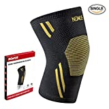 Nowus Knee Compression Brace Single Wrap Sleeve for Running, Jogging, Squats, Sports, Joint Pain Relief and Injury Recovery Support