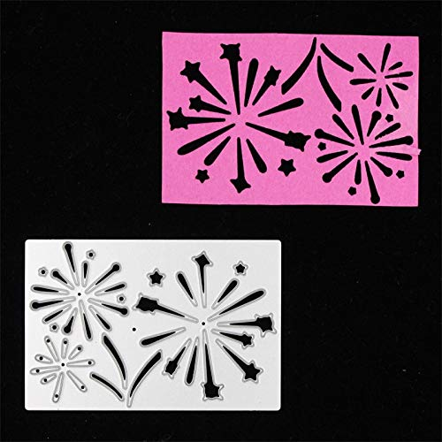 Fireworks Metal Cutting Dies Stencils for DIY Scrapbooking Stamp/photo album Decorative Embossing DIY Paper Cards ()