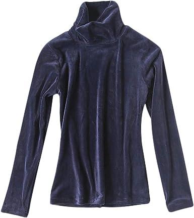 DEBAIJIA Camiseta Interior Térmico Manga Larga para Mujer Ropa Camisa Terciopelo Transpirable Delgado Suave Jersey Cuello Alto Ligera y Cálida: Amazon.es: Ropa y accesorios