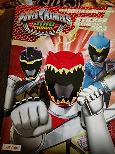 Power Rangers Sticker Scene