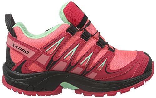 Salomon Xa Pro 3D, Zapatillas de Running para Asfalto Unisex Niños Rosa (Madder Pink /         Lotus Pink /         Lucite Green)