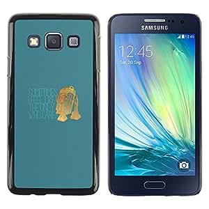 CASER CASES / Samsung Galaxy A3 SM-A300 / Only One Who Cares - Funny R2 D2 / Delgado Negro Plástico caso cubierta Shell Armor Funda Case Cover