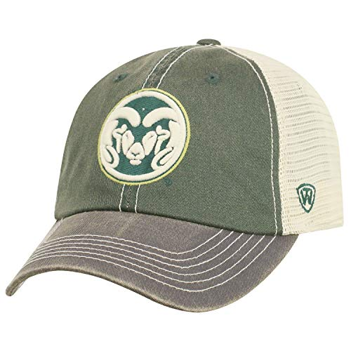 Top of the World Men's Relaxed Fit Adjustable Mesh Offroad Hat Team Color Icon, Colorado State Rams Green