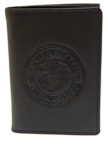 Marine Corps Trifold Wallet (Black) Men's Gift Boxed Wallet - RFID BLOCKING Wallets