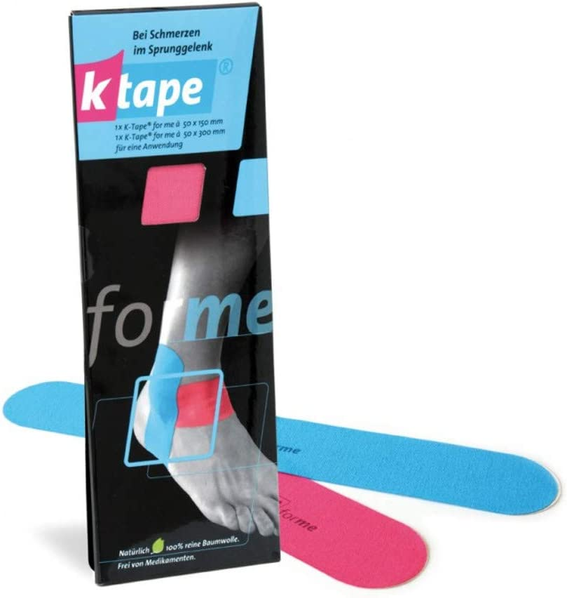 K-Tape for me Ankle, Precut Kinesiology Tape: cotton and long lasting Physiobond adhesive