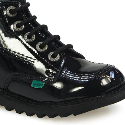 Kickers Kick Hi Toddler Core Black Patent Leather Boots-UK 8 Infant