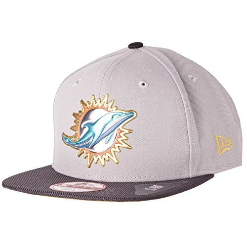 New Era Snapback Cap - NFL GOLD COLLECTION Miami (Gold Dolphin Hat)