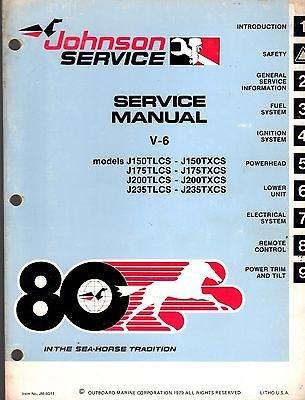 - 1980 JOHNSON OUTBOARD MOTOR V-6 SERVICE MANUAL JM-8011 (493)