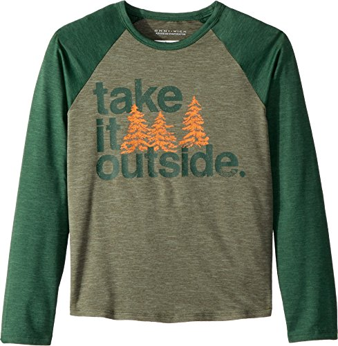 Elements Outdoor (Columbia Little Boy's Outdoor ElementsLong Sleeve Shirt, Small, Cypress/Forest)