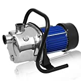 (US STOCK) 1.6HP Portable Stainless Steel Booster Pump, 850 GPH 1200W Lawn Sprinkling Pump, Shallow Well Pump & Tank Garden Water Pump Pressurized Home Irrigation (1.6HP)