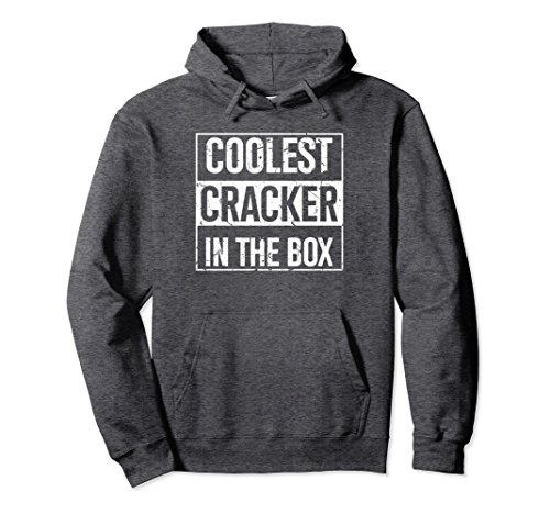 Unisex Coolest Cracker In The Box Hoodie Junk Food Humor Tee Medium Dark Heather