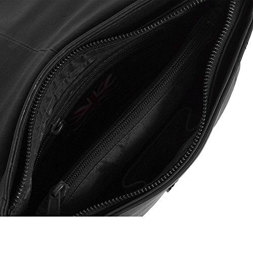 The Chesterfield Brand Julius Borsa a tracolla pelle 20 cm Black