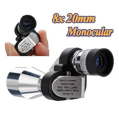 Mini 8 x 20mm Portable Pocket Adjustable Monocular Telescope For Outdoor Sports Hiking Bird Watching