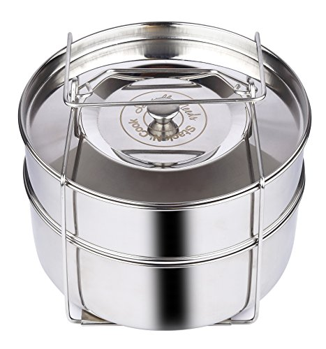 The Original Stack N' Cook Stackable Insert Pans with Sling - Instant Pot Accessories for 6, 8 Qt Baking, Casseroles, Lasagna Pans, Food Steamer - Pressure Cooker, Pot in Pot - Interchangeable Lid by Sensible Needs (Image #8)
