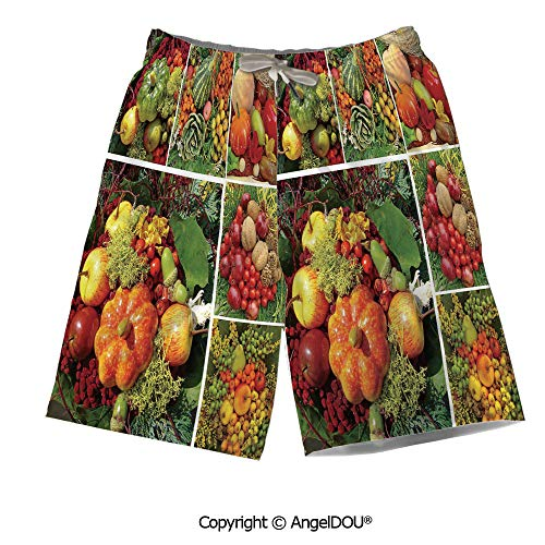 Tulip View Quick - AngelDOU Summer Cool Quick Dry Board Shorts,Daffodil Decor,Tulip and Daffodil Fl
