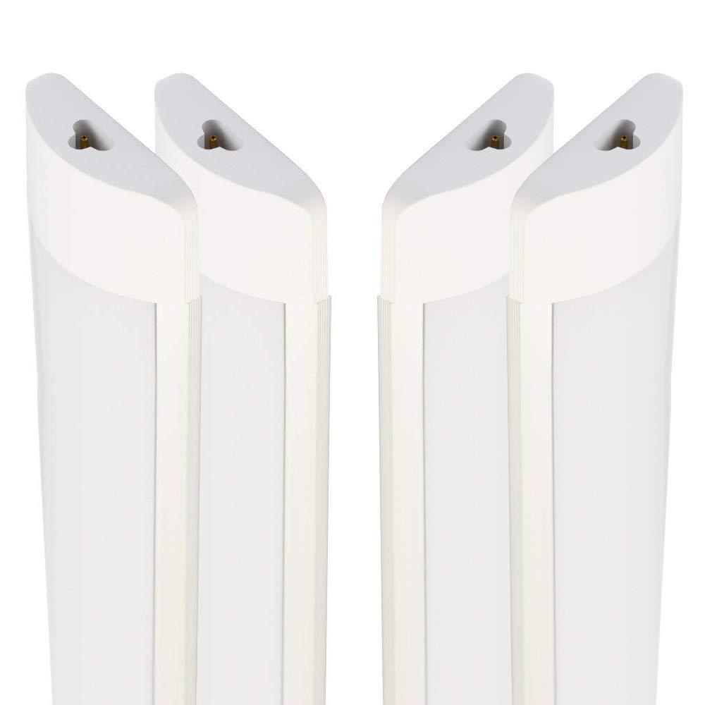 4 Pack Excellent LED Batten Lights 6000 6500k Super Bright White Light 3FT 27w Linkable Length 25cm LED Fixture Garage Shop Lights