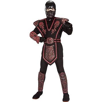 Disfraz de Ninja Rojo enmascarado para niño, infantil 8-10 ...