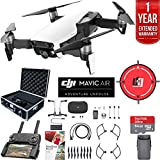 DJI Mavic Air (Arctic White) Drone Combo with Remote Controller Extended Fly Bundle with Hard Case, Dual Battery, Landing Pad, Corel Photo Pro, 64GB High Speed Card and 1 Year Warranty Extension