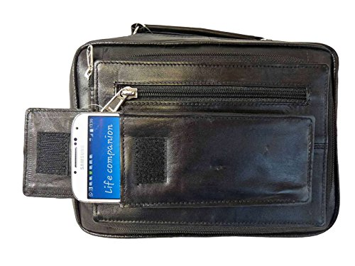 Galaxy Iphone Bags Wallets Samsung RL521 With Slots Credit Pockets Shoulder Travel Mens plus 7 6 4 Holiday Bag Utility Zipped Size Handle Mans 16 Travel Card Leather Organiser Top Pouch AnxUvg