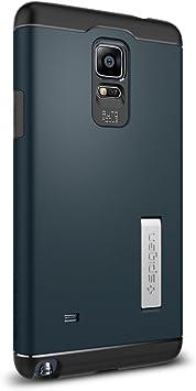 Spigen SGP11127 - Funda para Samsung Galaxy Note 4, Azul oscuro/Negro: Amazon.es: Electrónica