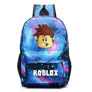 Kids Roblox Backpack Student Bookbag Laptop Bag Travel Computer Bag for Boys Girls Teens Game Fans Gifts (A)