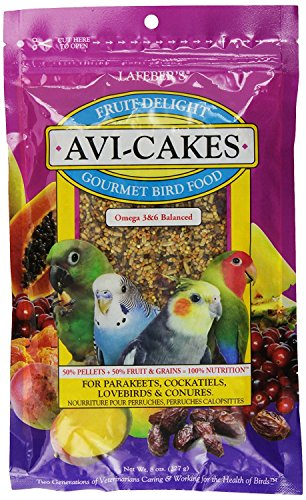 Lafeber's Fruit Delight Avi-Cakes for Small Birds 8 oz