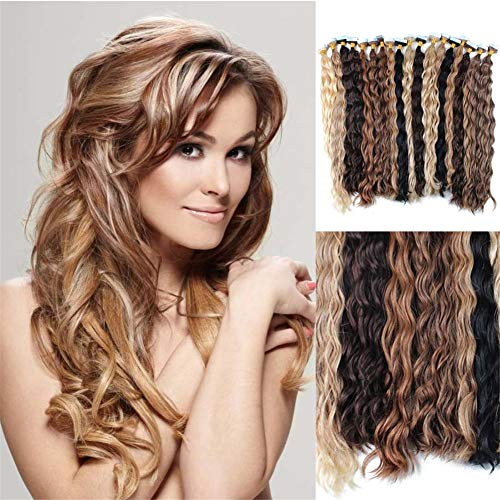 RemeeHi New Style Natural 20 Pieces Curly Tape In Hiar Extensions 20 Inch 60 Gram Per Package 99j# Red Wine (99 Wine Labels)