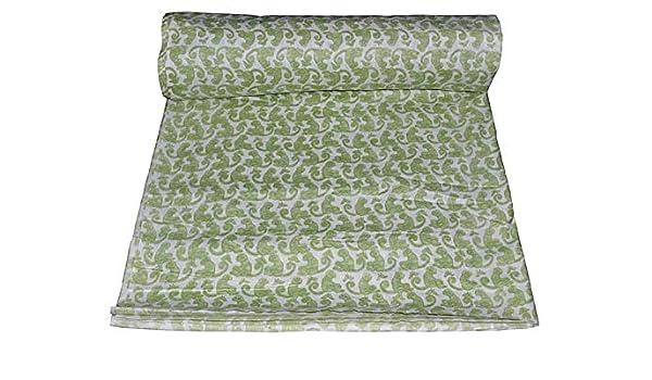 Amazon Com Indian Cotton Hand Block Printed Fabric By Yard Bagru