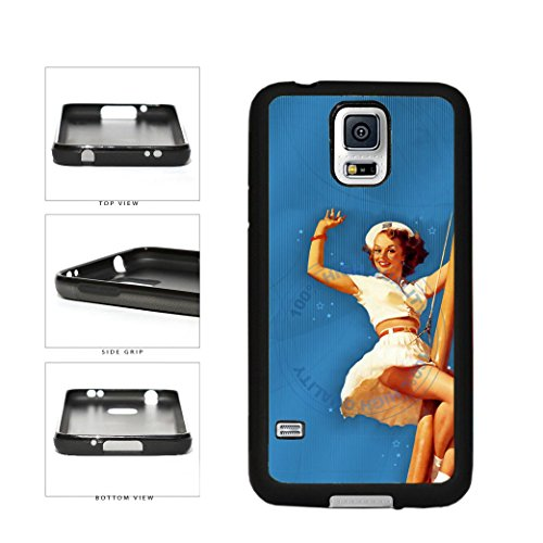 Cute Sailor Girl TPU Rubber SILICONE Phone Case Back Cover For Samsung Galaxy S5 I9600 includes BleuReign(TM) Cloth and Warranty Label (Galaxy Cola S5 Case Coca)