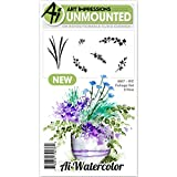 Art Impressions Watercolor Cling Rubber Stamp Foliage 2