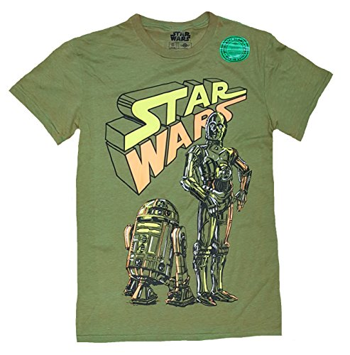 (Star Wars Team Bots Droids R2-D2 C-3PO Graphic T-Shirt -)
