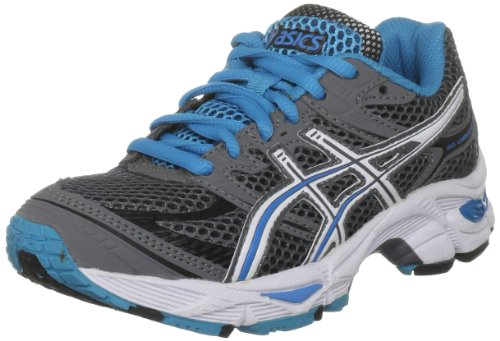 Asics Kids Gel Cumulus Gs Running Shoe Charcoal/White/Electric Blue
