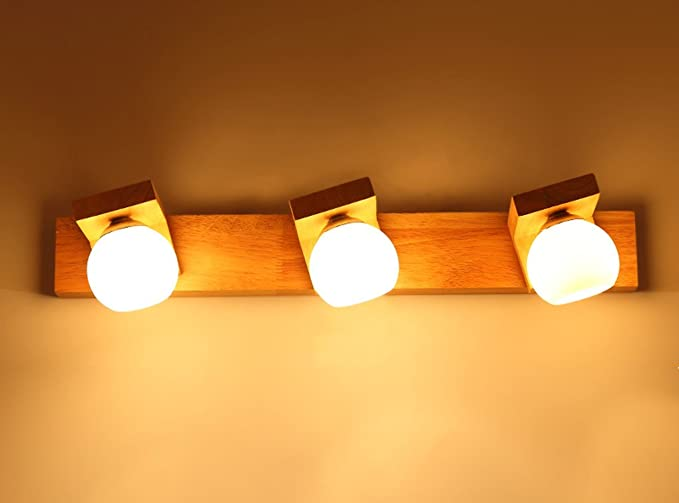 Plafoniere Da Parete In Legno : Liyan led applique da parete muro lampade illuminazione