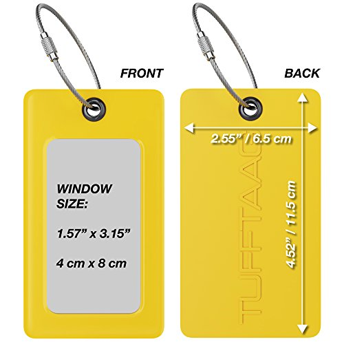 Luggage Tags TUFFTAAG, Business Card Holder, Suitcase Labels, Travel Accessories