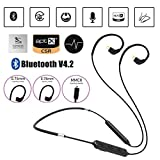 Wireless Bluetooth Upgrade Cable - TRN BT10 IPX7 Waterproof Bluetooth MMCX Adapter Cable with Qualcomm aptX Technology, Microphone, Remote