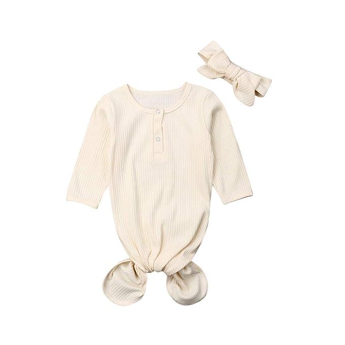 Amazon.com: Camisón de bebé recién nacido con diseño floral ...