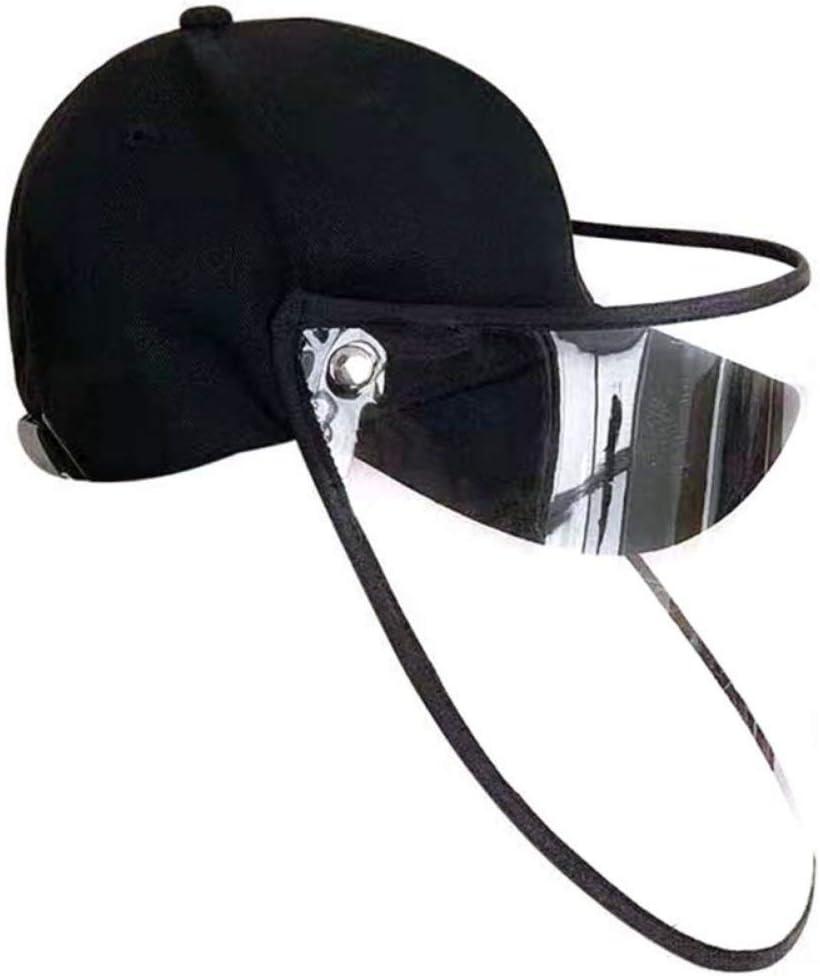 Sombrero de Protección, Antivirus Sombrero, Gorras Transparentes de Protección Ocular Parasol, Bloqueo de Gotas Anti-Virus de Saliva, Evitar Que el Virus Ingrese al Cuerpo Humano