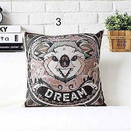 Amazon.com: Cute Animal Decorative Cushion Covers Throw ...