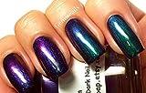Nail Polish - Multichrome Chameleon Chrome - Blue/Purple/Green/Copper Color Shifting - ''Lagoon'' - Hand Blended - 0.5 oz Full Sized Bottle - FREE SHIPPING