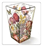 "Vase Glass Decorative for Flowers 6.25 "" Floral"