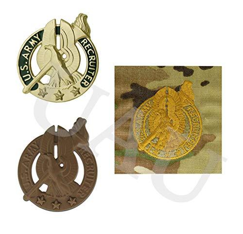 Army Recruiter Badge Bundle (GOLD (SENIOR))