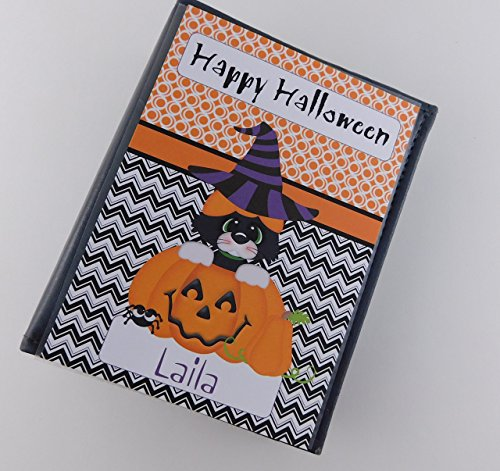 Happy Halloween Photo Album 435 Black Kitty Cat Pumkin Jack O lantern 100 4x6 Picture Book By Girl Childrens baby Brag Book