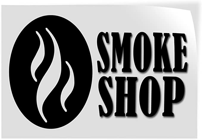 14inx10in Decal Sticker Multiple Sizes Smoke Shop Business Smoke Shop Outdoor Store Sign White Set of 10