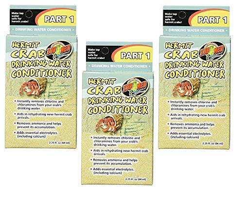 (3 Pack) Zoo Med Laboratories Hermit Crab Drinking Water Conditioner 2.25-Ounces Each ()