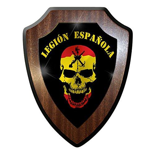 Legión Española Español Cráneo Exterior España Bandera Insignia–Escutcheon/Wall Sign