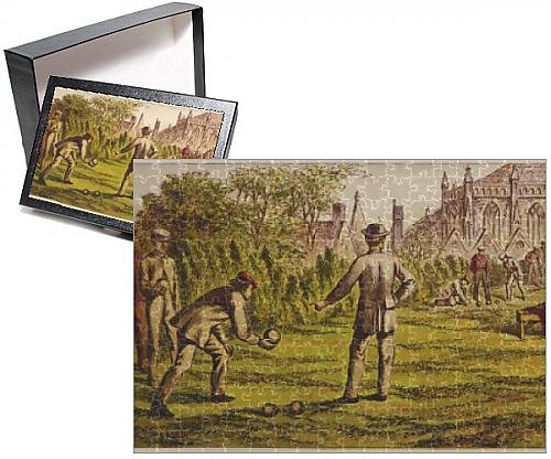 Photo Jigsaw Puzzle of Men playing bowls on a lawn