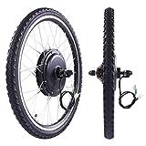 Thegreatshopman 48V 1000W Rear Wheel Electric Bicycle Cycle E Bike 26'' Conversion Kit Hub Motor