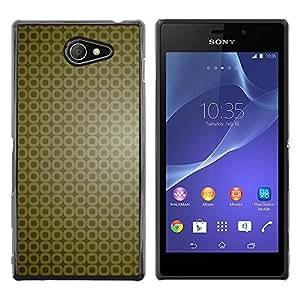 Exotic-Star ( Simple Pattern 9 ) Fundas Cover Cubre Hard Case Cover para Sony Xperia M2 / Xperia M2 Aqua / Sony Xperia M2 Dual