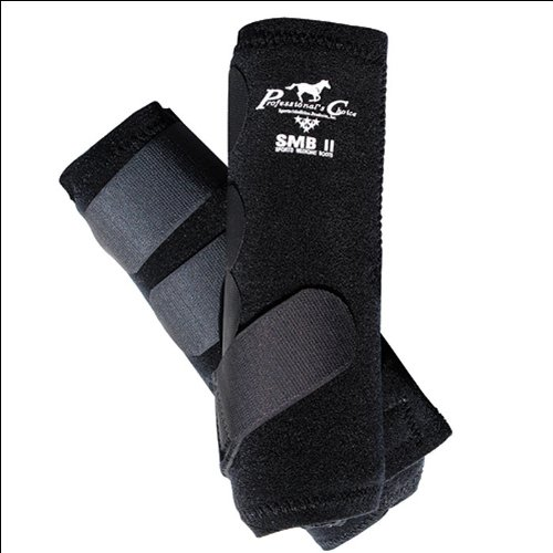 [Professionals Choice Equine Smbii Leg Boot, Pair (Large, Black)] (Event Horse Boot)